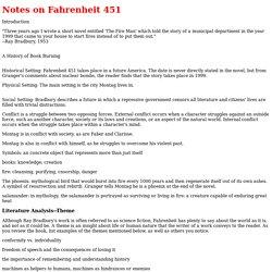 Notes on Fahrenheit 451