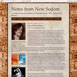 Notes from New Sodom: August 2010