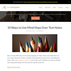 10 Ways to Use Mind Maps Over Text Notes - Great Mindmapping Technique