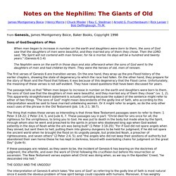 Notes on the Nephilim: The Giants of Old