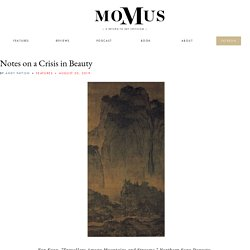 Notes on a Crisis in Beauty - Momus