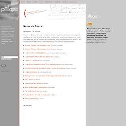 Notes de Cours - philosophie - Philopsis
