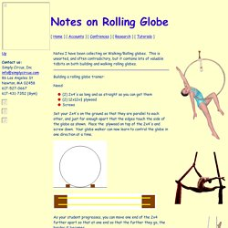 Notes on Rolling Globe