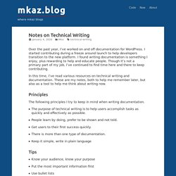 Notes on Technical Writing – mkaz.blog