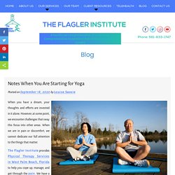 Notes When You Are Starting for Yoga