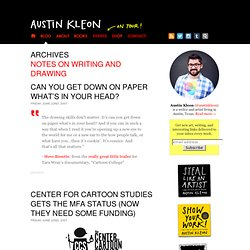 NOTES ON WRITING AND DRAWING by Austin Kleon - Part 16