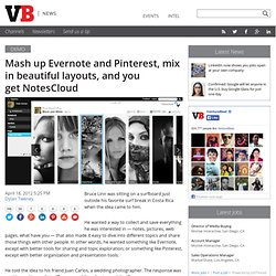 Mash up Evernote and Pinterest, mix in beautiful layouts, and you get NotesCloud