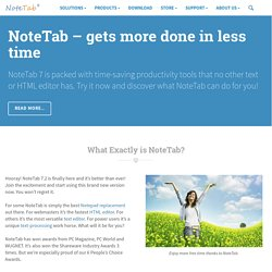 Award-Winning NoteTab Text Editors and HTML Editors