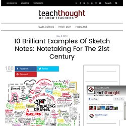 10 Brilliant Examples Of Sketch Notes: Notetaking For The 21st Century