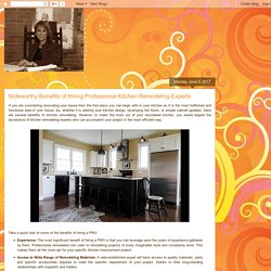 Advantages of Professional Kitchen Remodeling Services