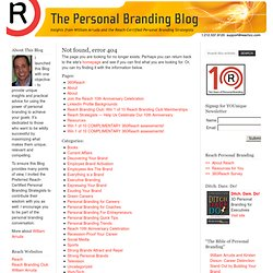 The Personal Branding Blog: William Arruda and the Reach-Certifi