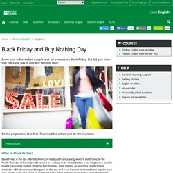 Black Friday and Buy Nothing Day