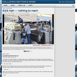nothing to mach > Holloman Air Force Base > Article Display