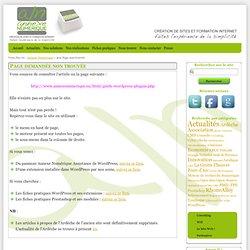 Annexe Numérique : Guide d'utilisation de WordPress