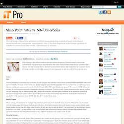 Sites vs. Site Collections