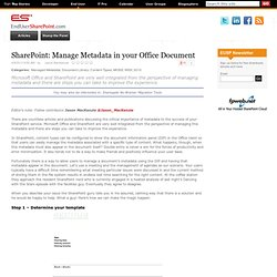 Manage Metadata in your Office Document