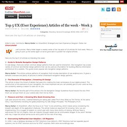 Top 5 UX (User Experience) Articles of the week - Week 3