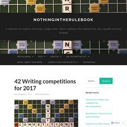 42 Writing competitions for 2017