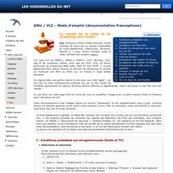 VLC, notice d'aide, petit manuel en français - Les Hirondelles du Net
