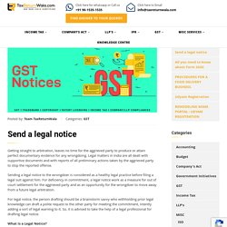 Send a legal notice - File Taxes Online