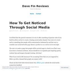 How To Get Noticed Through Social Media