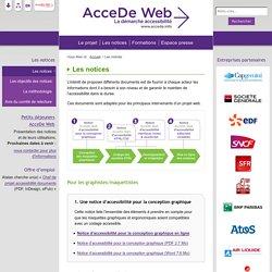 Les notices - AcceDe Web - La démarche accessibilité