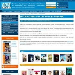 Notices UNIMARC pour médiathèques par RDM Video, norme ISO 2709