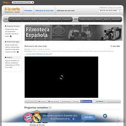 Noticiario de cine club, Noticiario de Cine Club