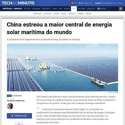 Notícias ao Minuto - China estreou a maior central de energia solar marítima do mundo