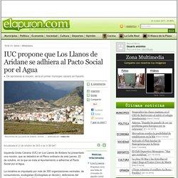Noticias de La Palma - IUC propone que Los Llanos de Aridane se adhiera al Pacto Social por el Agua - elapuron.com