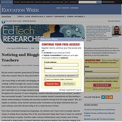 Student Teacher Blogging