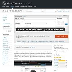 Melhores notificações para WordPress — WordPress Plugins