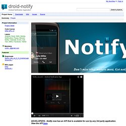 droid-notify - Android Notification Application