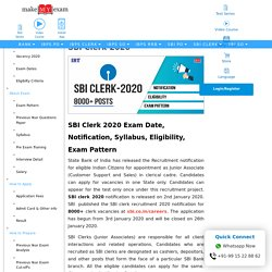 SBI Clerk 2020 Exam Date - Notification, Pattern, Eligibility, Vacancy
