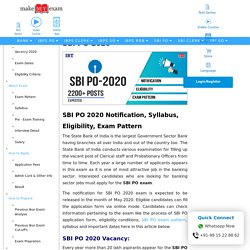 SBI PO 2020: Notification, Exam Date, Eligibility
