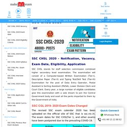 SSC CHSL 2020 Exam: Notification, Pattern, Date