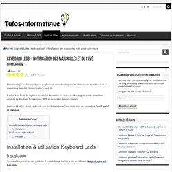Keyboard Leds - Notification des majuscules et du pavé numérique