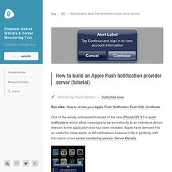 How to build an Apple Push Notification provider server (tutorial) « Boxed Ice Blog