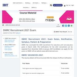 DMRC 2020: DMRC Notification, DMRC Recruitment, Vacancy, Pattern, Syllabus & More