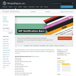WP Notification Bars — WordPress Plugins