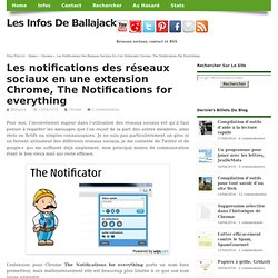 Les notifications des réseaux sociaux en une extension Chrome, The Notifications for everything