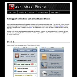 Jailbreak and unlock the iPhone - Making push notifications work on hacktivated iPhones