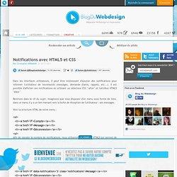 Notifications avec HTML5 et CSS - tutoriels-html5
