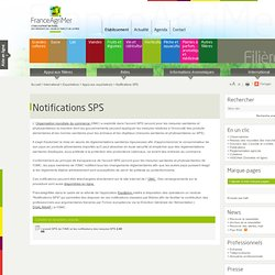 FRANCE AGRIMER - Notifications SPS.