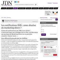 Les notifications SMS : arme absolue du marketing direct ?