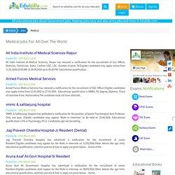 Medical jobs,Medical job notifications, Medical recruitment