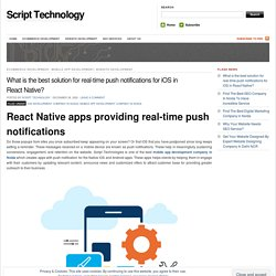 What is the best solution for real-time push notifications for iOS in React Native?