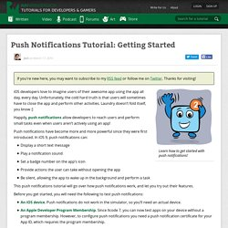 Push Notifications Tutorial: Getting Started