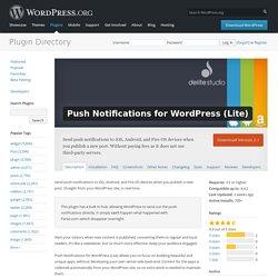 Push Notifications for WordPress (Lite) — WordPress Plugins