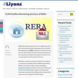 HUPA Notifies Remaining Sections of RERA